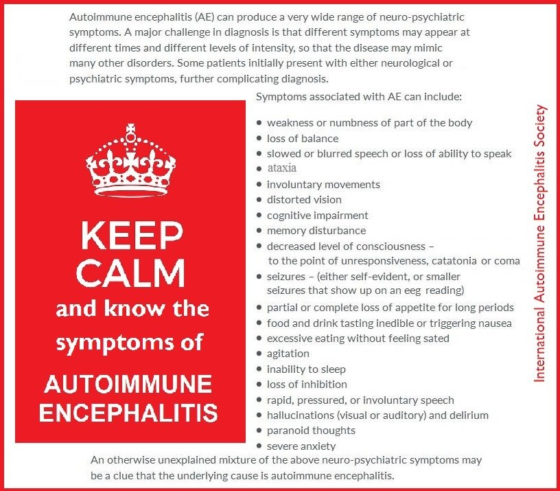 AE symptoms keep calm - Memes About Autoimmune-Encephalitis