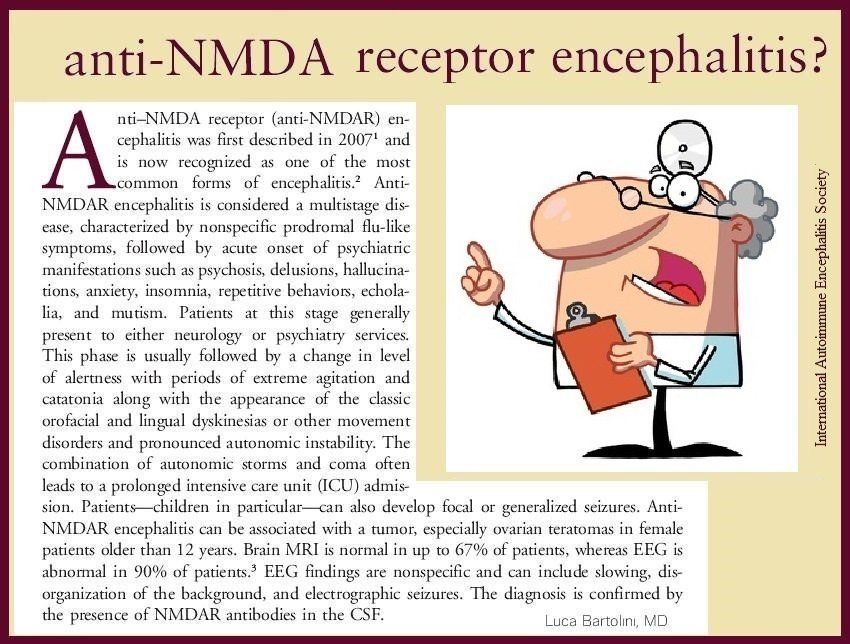 NMDA general info onset - Memes About Autoimmune-Encephalitis