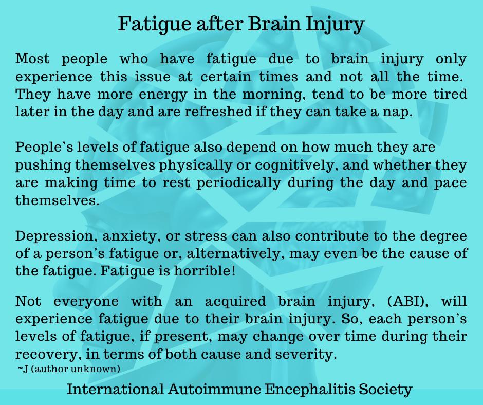 Fatigue after Brain Injury FB - Memes About Autoimmune-Encephalitis
