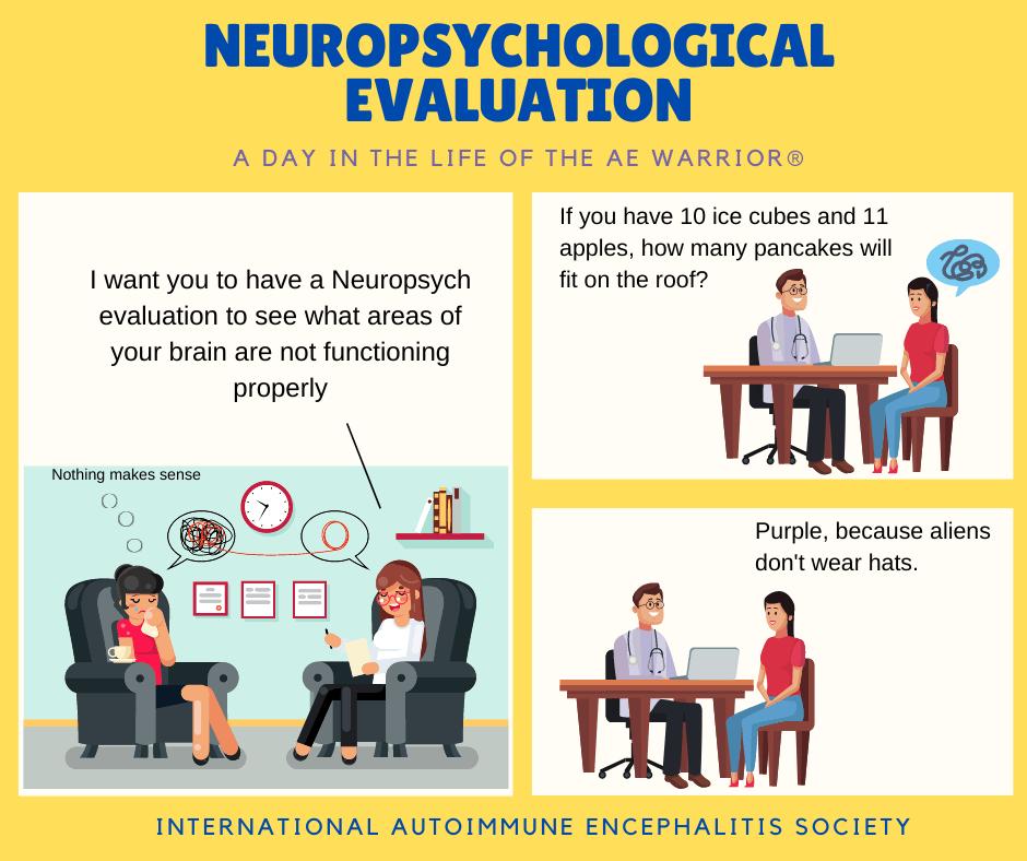 Neuropsych eval comic 11 29 20 FB - Memes About Autoimmune-Encephalitis