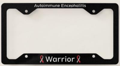Autoimmune Encephalitis Warrior License Plate Frame - THE HERD January 2021~ 1st edition