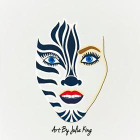 Julia King self portrait 1 JK - 2021 IAES Virtual Art Show