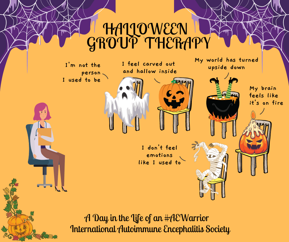Halloween Group Therapy FB  - Memes About Autoimmune-Encephalitis