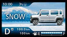 ハスラーのスノーモード(4WD車)