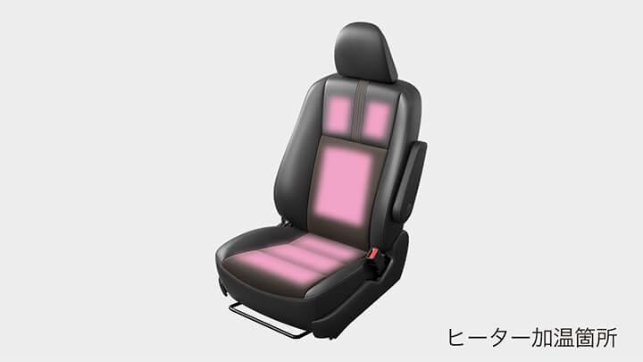 シエンタのシートヒーター(運転席・助手席)
