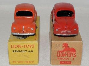 Celle de couleur orange est une version espagnole et la rouge est une version hollandaise.