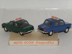 Minialuxe  Peugeot 204 et Simca 1000 Auto-école