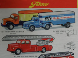 catalogue Tekno et Scania Vabis