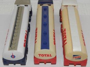 citernes Total : variantes de couleurs et de logo