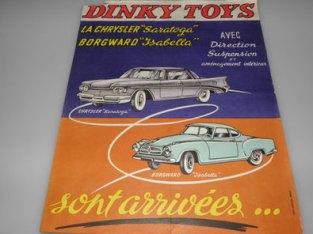 affichette pour le lancement de la Chrysler Saratoga