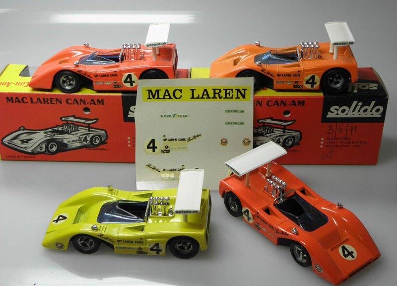 variantes de couleur sur les Mac Laren Solido