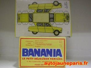 Planche à découper Banania: Citroën Ami 6