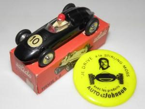 """Solido Porsche F2 avec premier type de boîte et pins """"Stirling Moss"""" je drive à la Stirling Moss !"""