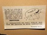 """notice de montage du présentoir """"nouveauté 1954"""""""