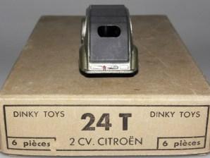 Dinky Toys citroën 2cv 1 feux gris métallisé
