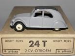 Dinky Toys citroën 2cv 1 feux gris clair pavillon quadrillé