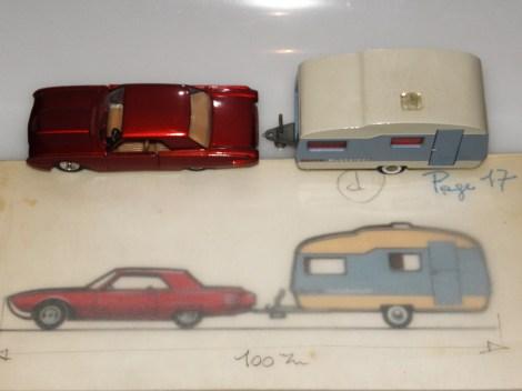 Référence 160 Ford Thunderbird avec caravane Tekno
