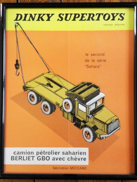 affichette Dinky Toys Berliet GBO saharien