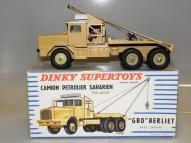 Dinky Toys Berliet GBO saharien avec jantes ivoire