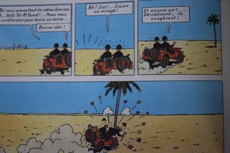 """Tintin """"Au pays de l'or noir"""" . Le mirage!"""