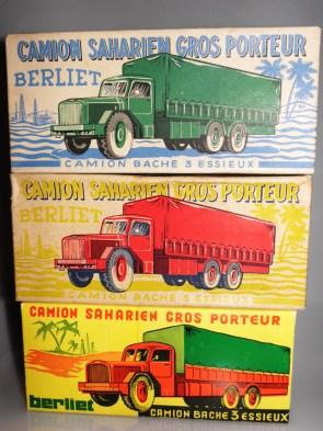 boîtes du Quiralu Berliet GBO et du modèle Eria