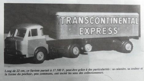 extrait de la vie de l'auto consacré à cette vente de 1988