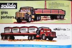 """Extrait de catalogue """"les gros porteurs Solido"""" avec camion Unic Sahara"""