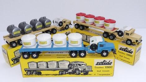 """Solido Unic Sahara tracteurs semi remorque avec cuves """"Eau potable"""" avec jantes en acier et en acier"""
