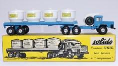 "Solido Unic Sahara tracteurs semi remorque avec cuves ""Eau potable"" avec jantes en acier"