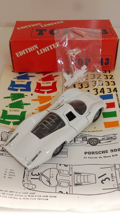 Top 43 Porsche 908 L Le Mans 1968 (base Solido)