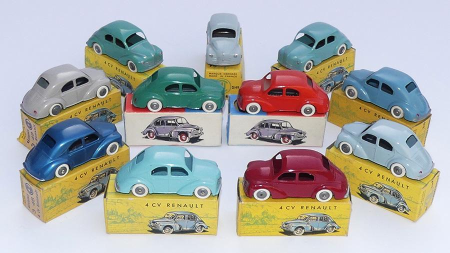 Palette de couleur de la référence 3-48 pour Renault 4cv calandre 3 barres