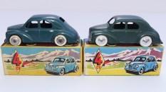 Non, ce sont pas les même ! nuances de couleur sur les Renault 4cv avec calandre 6 barres et jantes en acier