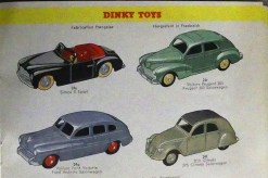 la page préféré de Charles (Catalogue Dinky-toys 1953-54 pour le marché suisse)