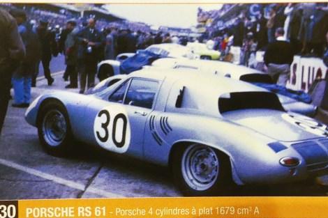 La Porsche RS61 numéro 30 de 1961
