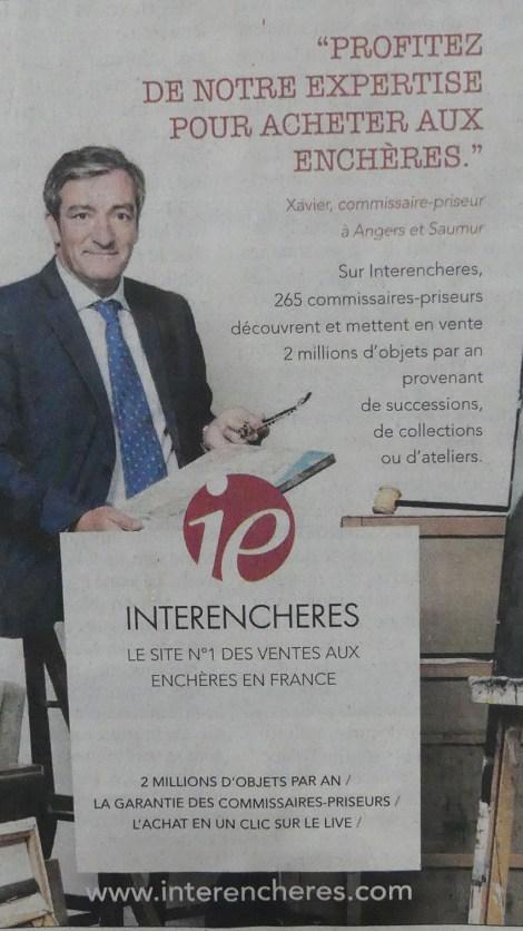 Publicité à la une du journal Le Figaro