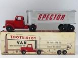 "Tootsietoys Mack""L"" semi remorque remorque tôlé ""Spector"""