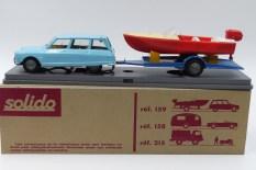 Solido coffret Citroen Ami 6 avec bateau