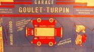 """découpage Peugeot D3A fourgon""""Goulet Turpin"""" avec son garage"""