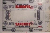 """Planche de découpage du camion Delahaye arrosé par Charbonneaux aux couleurs """"Saponite"""""""