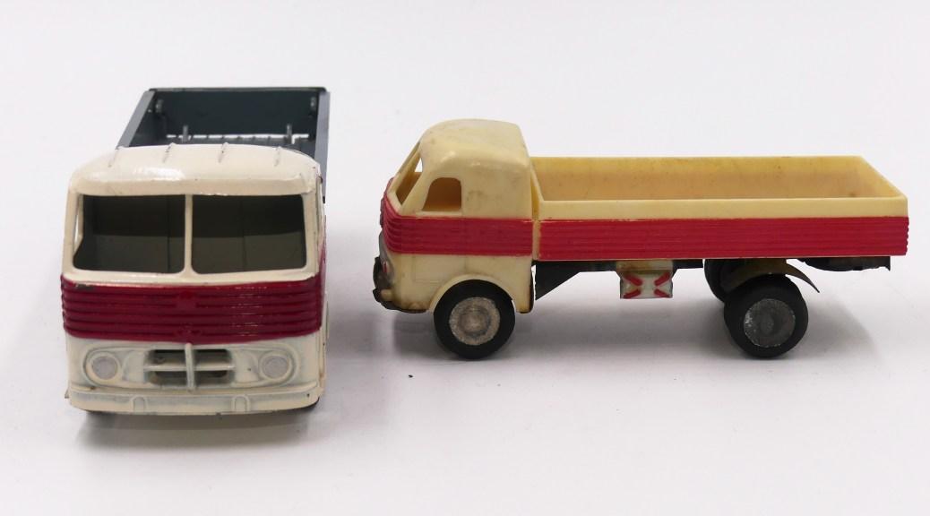 Inconnu Espagne Pegaso camion ridelles en zamac 1/50 et en plastique 1/55