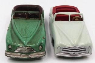 Dinky Toys Simca 8 sport (pare brise en tôle) prototype bois avec modèle de série