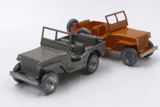 Dinky Toys Willys Jeep civile (rares couleurs)