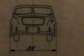 Dinky Toys deuxième plan de la Simca 8 sport