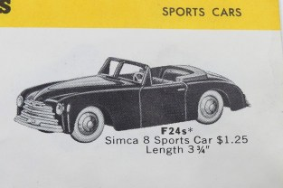 catalogue Hudson Dobson (USA) Simca 8 sport