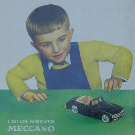 Dinky Toys pancarte en carton avec Simca 8 Sport