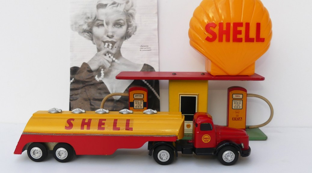 Marilyn Monroe , sa tirelire et le garage Shell
