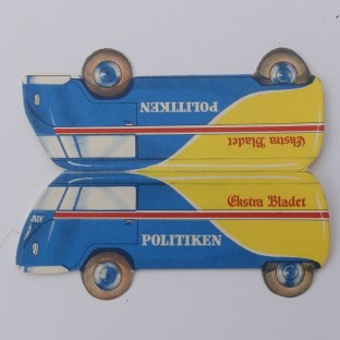 """pliage promotionnel pour le journal""""Politiken""""..il revenait moins cher à produire qu'un Tekno !"""