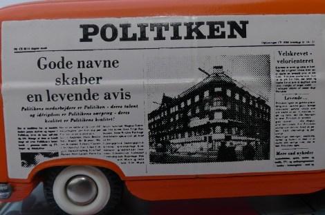 """Tekno Ford Taunus fourgon""""Politiken"""""""