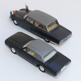 Dinky Toys Citroën DS présidentielle et Ford Thunderbird (petite série)