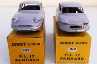 Dinky Toys Panhard PL17 Junior pré-série avec châssis lisse